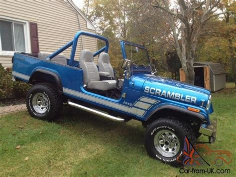 jeep scrambler blue 1981 jeep scrambler cj8 cj 8