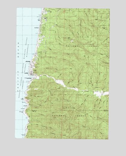 map of yachats oregon yachats or topographic map topoquest
