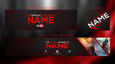 New 2017 Banner Template Youtube Banner Twitter Banner And Logo Psd With Free Download Banner Template 2017