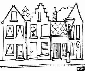pueblo de casitas mandalas infantiles para colorear para disegni di case da colorare e stare