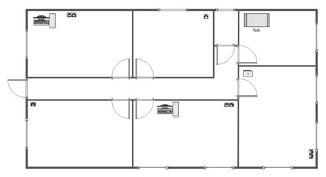 floor plan holder network equipment and cabling layout template