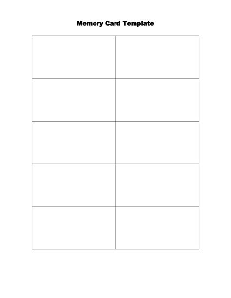 free memory card template 4 best images of senior memory books printable templates