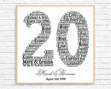 20th Wedding Anniversary Ideas Gifts by Gifts For 20th Wedding Anniversary Husband Gift Ftempo
