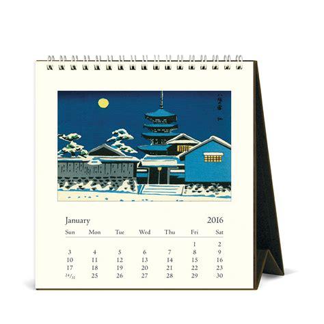 Cavallini Calendars Cavallini Papers 2016 Desk Calendar Japanese Woodblocks