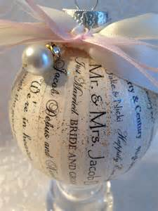 personal shower gift ideas for the personalized wedding ornament wedding gift bridal shower