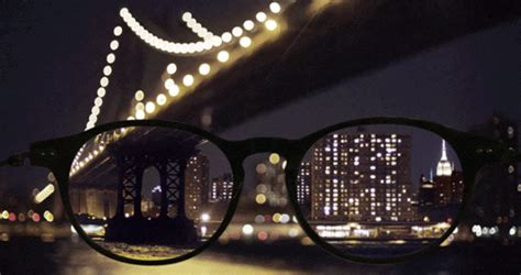 gif photography gifs cinemagraph glasses new york bokeh