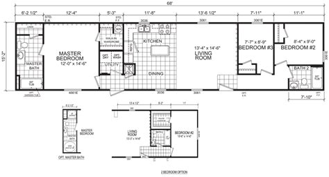 16 wide mobile home floor plans lasalle 16 x 68 1031 sqft mobile home factory expo home