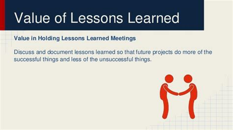lessons learned in project management the value in