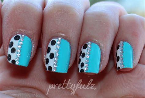 nail art latest tutorial prettyfulz blue polka dot nail art love letter nails