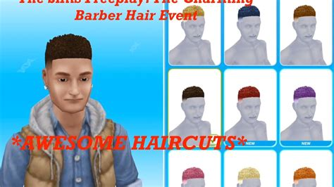 how to get long hairs on sims freeplay the sims freeplay the charming barber hair event 88