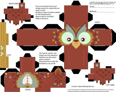 Best Photos Of Owl Cubeecraft - 130 best images about cubeecraft on