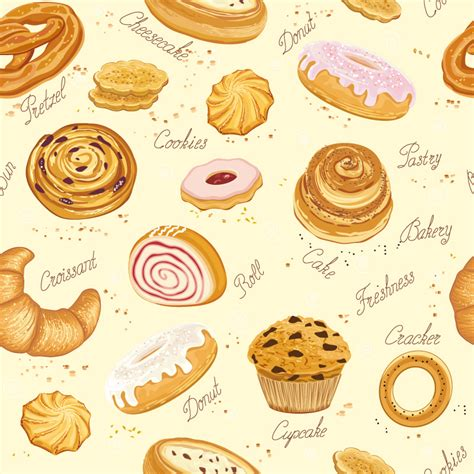 Pattern Goods | delicious baked goods vector free vector graphic download