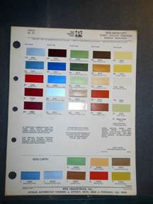 1975 mercury ditzler ppg color chips paint samples cougar monarch comet ebay