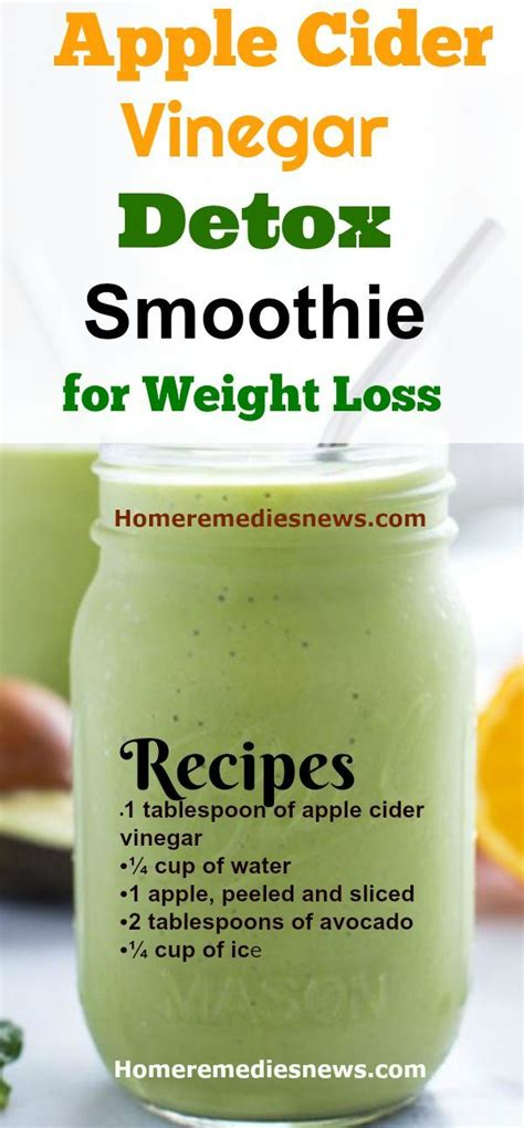 Detox Drink Weight Loss With Apple Cider Vinegar by Apple Cider Vinegar Detox Smoothie Not All Apple Cider