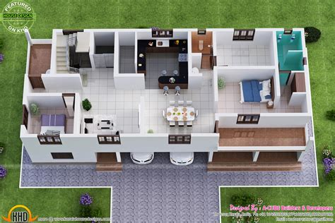 smallhomeplanes 3d isometric views of small house plans residence at changanassery keralahousedesigns