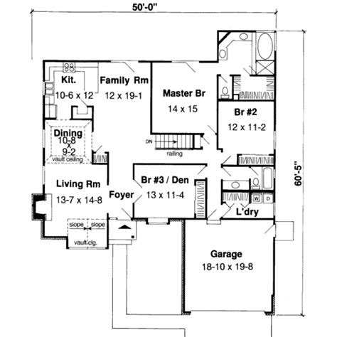 Traditional Style House Plan 3 Beds 2 Baths 1850 Sq Ft