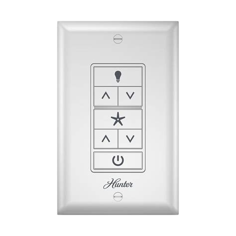 ceiling fan wall remote shop hunter white wall mount universal ceiling fan remote