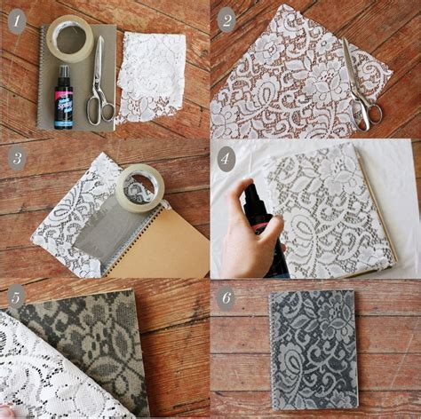 Shabby Chic Doormat How To Make A Lace Patterned Notebook A Beautiful Mess