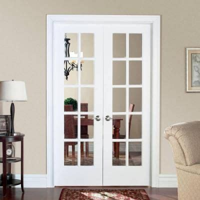 home depot interior french doors masonite smooth 10 lite solid core primed pine double
