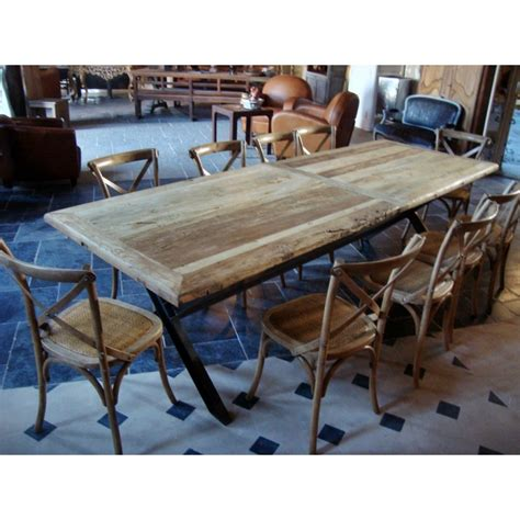 table fer forge plateau bois table bois fer forge maison design wiblia