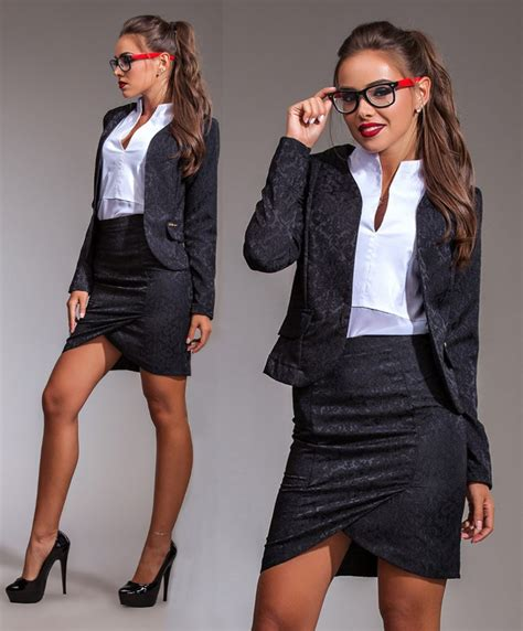 Set Blazer Shirt Skirt Dress s brocatelle bussiness casual blazer pencil skirt