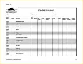 free punch list template construction punch list template template design