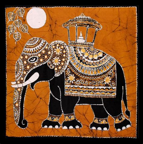 9935 Batik My 25 best ideas about painted indian elephant on