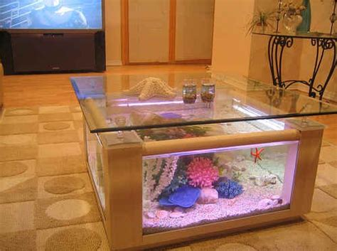 Fish Tank Living Room Table 68 Gallon Square Coffee Table Aquarium Fish Ready With Light And Filter The Pet Furniture Store