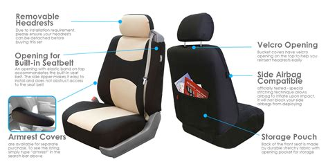 integrated headrest seat covers car seat cover set integrated seatbelt 5 headrest