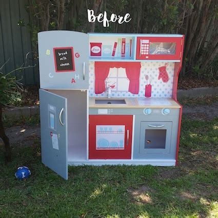 Kmart Kitchen Decor by Before And After A Kmart Wooden Play Kitchen Hack