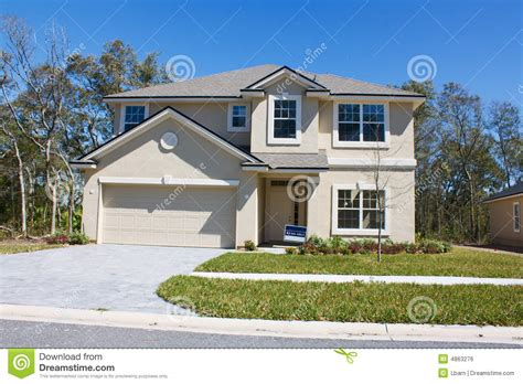 home image new beige stucco home stock photo image of real