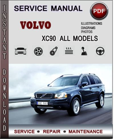 volvo xc service repair manual  info service manuals