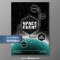 editable poster template fee vector free