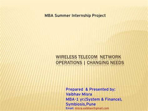 At Kearney Mba Internship by Vaibhav Misra Telecom Wireless Operations Management