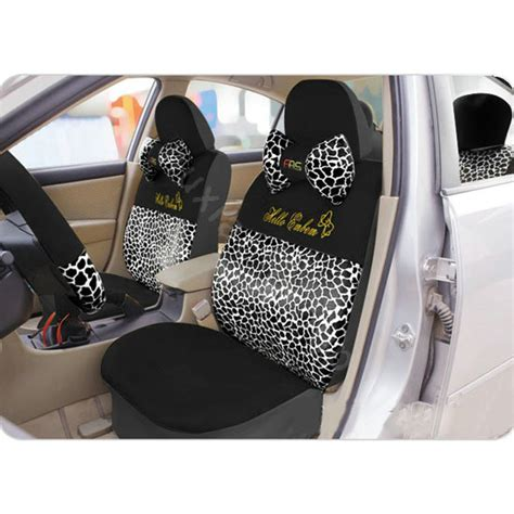 hello seat covers set buy wholesale hello leopard universal car seat