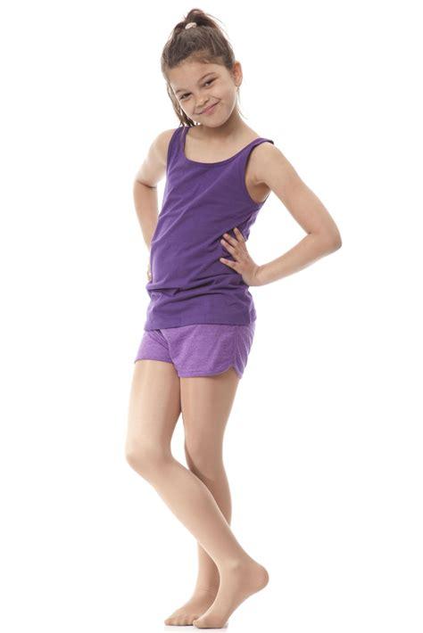 preteen nylon girls 1 pair silky dance shimmer full foot tights ebay