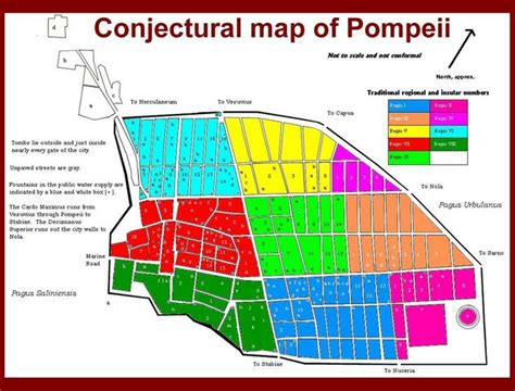layout of pompeii house conjectural map of pompeii pompeii pinterest maps