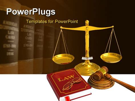 powerpoint templates for legal presentation golden weight scales code of laws glasses and wooden