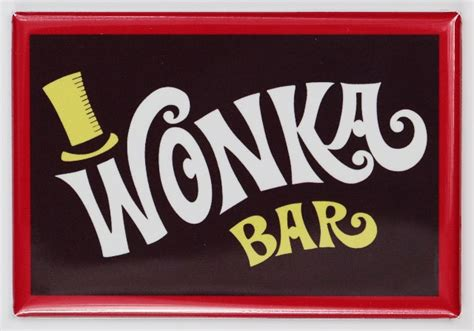 Chocolate Wonka M wonka bar fridge magnet willy wonka chocolate bar