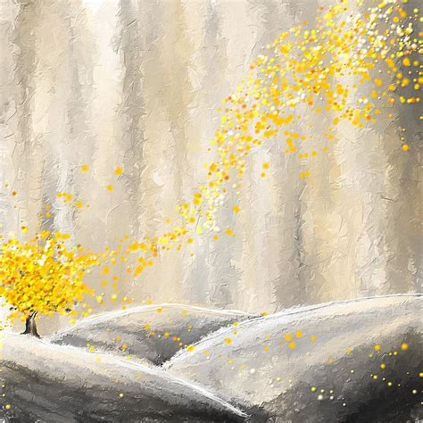 painting greys yellow and gray landscape painting by lourry legarde