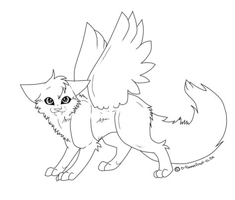 cute anime cat with wings drawings cat with wings line art by joker darling on deviantart