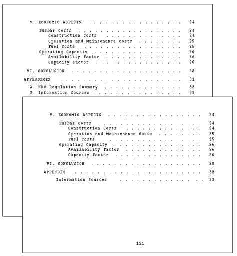 report content page template technical writing report format and production