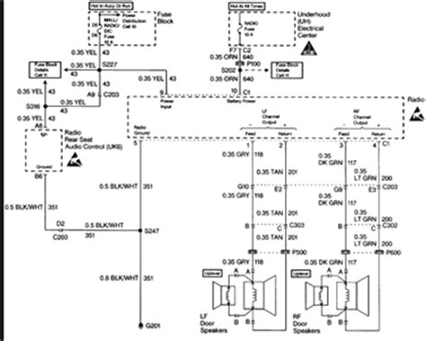 trailblazer aftermarket radio wiring harness diagram