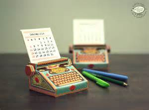 Small Desk Calendar Template Diy Printable Paper Typewriter Calendars Colossal