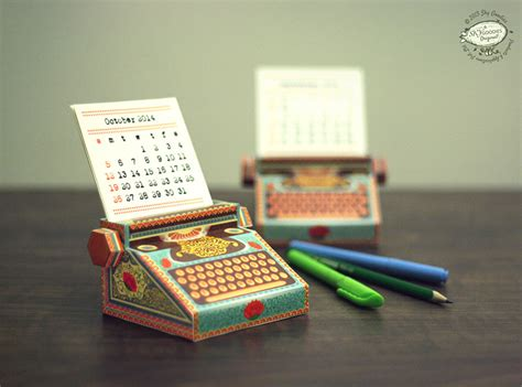 How To Make A Paper Calendar - diy printable paper typewriter calendars colossal