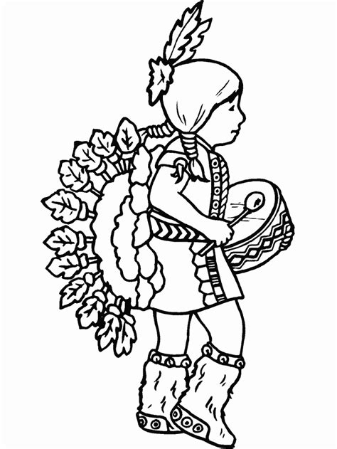 preschool indian coloring page american coloring pages native american coloring pages for