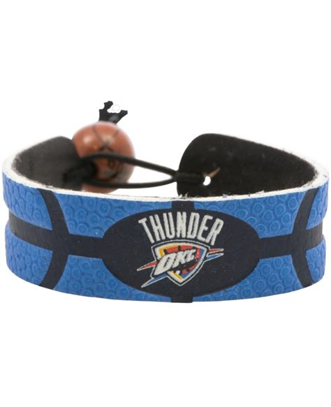okc thunder colors oklahoma city thunder team color basketball bracelet