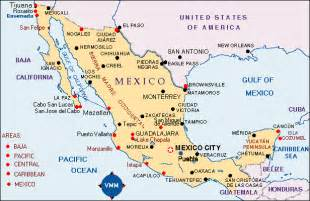 map of eastern us and mexico map mexico cities