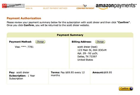 amazon payment using amazon web services to enable direct entitlement