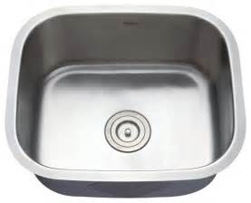 Single Bowl Stainless Kitchen Sink Kraus Kbu11 20 Inch Undermount Single Bowl 16 Stainless Steel Kitchen Sink Modern